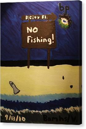 Bp Oil Spill Canvas Print by Bamhs Blair