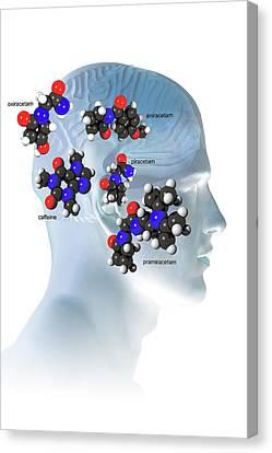 Brain-enhancing Supplements Canvas Print