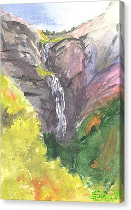 Bridal Veil Falls Canvas Print by Sherril Porter