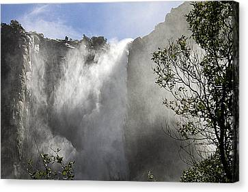 Bridalveil Fall Yosemite National Park Canvas Print by Peter Lloyd
