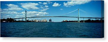 Bridge Across A River, Ambassador Canvas Print by Panoramic Images