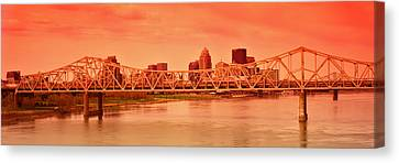 Bridge Across A River, John F. Kennedy Canvas Print by Panoramic Images