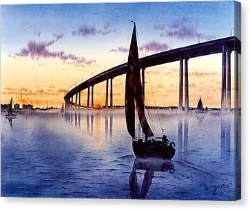 Most Canvas Print - Bridge At Sunset by John YATO