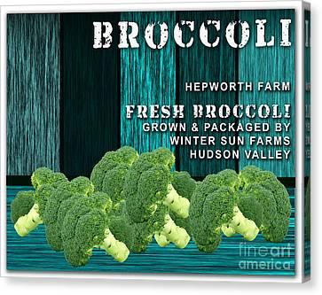 Broccoli Canvas Print - Broccoli Farm by Marvin Blaine