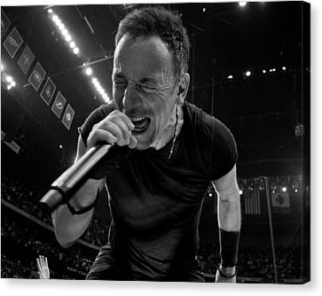 Bruce Springsteen Canvas Print by Jeff Ross
