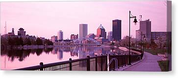 Buildings At The Waterfront, Genesee Canvas Print by Panoramic Images