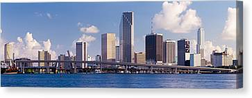 Buildings At The Waterfront, Miami Canvas Print