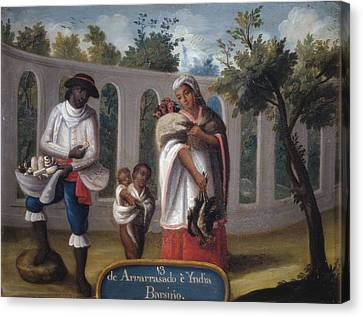 Cabrera, Miguel 1695-1768. Mixed Races Canvas Print by Everett