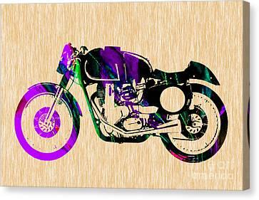 Cafe Racer Canvas Print by Marvin Blaine