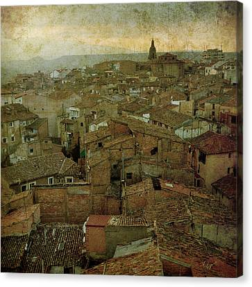 Buildings Canvas Print - Calahorra Roofs From The Bell Tower Of Saint Andrew Church by RicardMN Photography