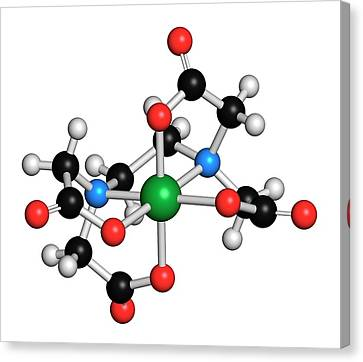 Calcium Edetate Drug Molecule Canvas Print by Molekuul