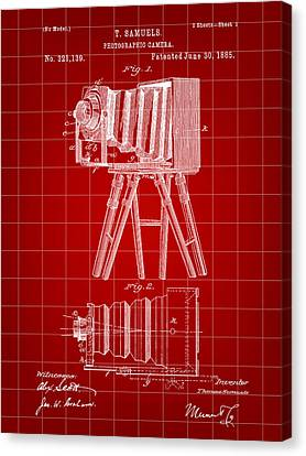 Camera Patent 1885 - Red Canvas Print by Stephen Younts