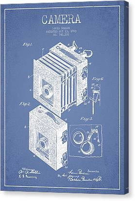Camera Patent Drawing From 1903 Canvas Print by Aged Pixel