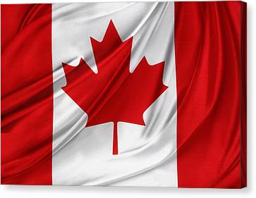 Canadian Flag  Canvas Print by Les Cunliffe