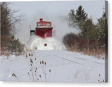 Canadian Pacific Snow Plow Canvas Print by Nick Mares