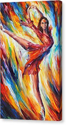 Candle Fire Canvas Print by Leonid Afremov