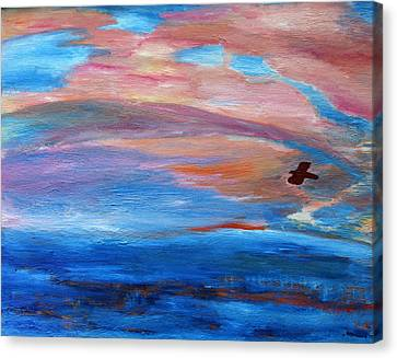Canvas Print featuring the painting Cape May Sunset by Vadim Levin