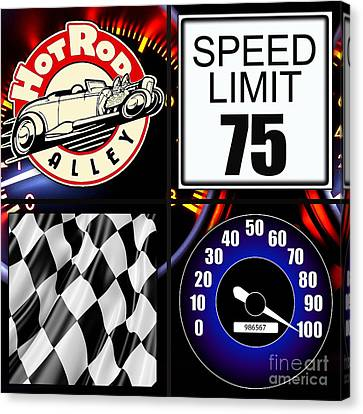 Speed Demon Art For Boys And Men Canvas Print