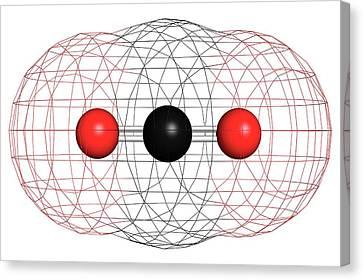 Carbon Dioxide Molecule Canvas Print