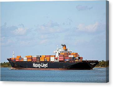 Cargo Shipping On The Mississippi River Canvas Print