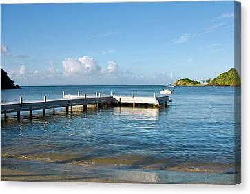 Carlisle Bay Beach, Antigua, West Canvas Print by Nico Tondini
