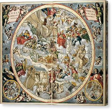 1596 Canvas Print - Cellarius, Andreas 1596-1665. Atlas by Everett