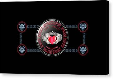 Celtic Claddagh Ring Canvas Print by Ireland Calling