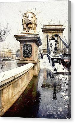 Chain Bridge In Budapest Canvas Print