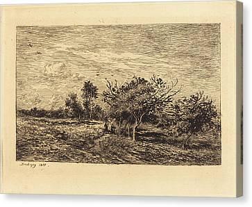 Apple Tree Canvas Print - Charles-françois Daubigny French, 1817 - 1878 by Quint Lox