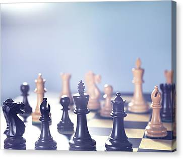 Chess Match Canvas Print by Tek Image