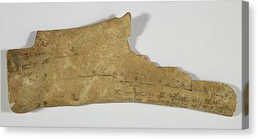 Chinese Oracle Bone Canvas Print by British Library