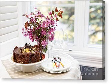 Bakery Canvas Print - Chocolate Cake by Elena Elisseeva