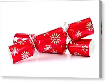 Wrapping Canvas Print - Christmas Crackers by Elena Elisseeva
