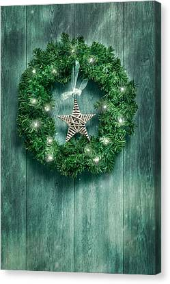 Christmas Garland Canvas Print by Amanda Elwell