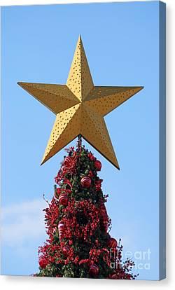 Athens Canvas Print - Christmas Star by George Atsametakis