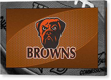 Cleveland Browns Canvas Print by Joe Hamilton