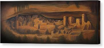 Ruins Canvas Print - Cliff Palace by Jerry McElroy