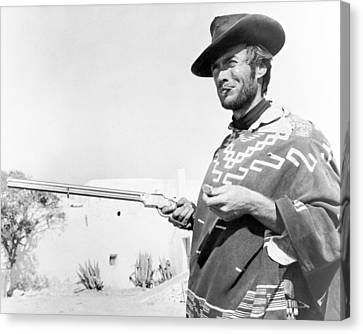 Clint Eastwood Canvas Print by Silver Screen
