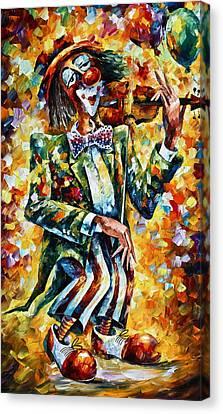 Clown Canvas Print by Leonid Afremov