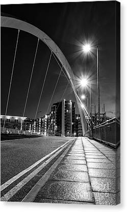 Clyde Arc Squinty Bridge Canvas Print