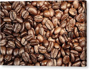 Coffee Beans Canvas Print by Les Cunliffe