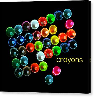 Colorful Wonderful Crayons Canvas Print by Diana Angstadt