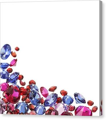 Colourful Gemstones Canvas Print by Science Photo Library
