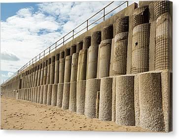 Concrete Sea Defences Canvas Print