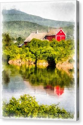 Connecticut River Farm Canvas Print by Edward Fielding