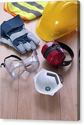Construction Safety Equipment Canvas Print by Tek Image
