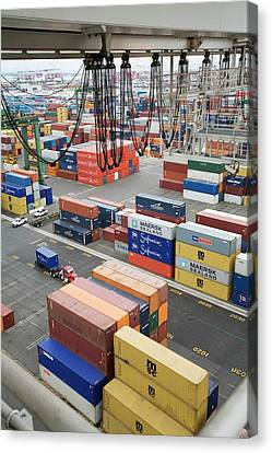 Container Port Canvas Print