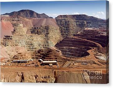 Copper Mine, Arizona, Usa Canvas Print