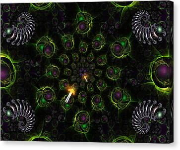 Cosmic Embryos Canvas Print by Shawn Dall