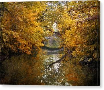 Autumn Leaf Canvas Print - Country Bridge by Jessica Jenney
